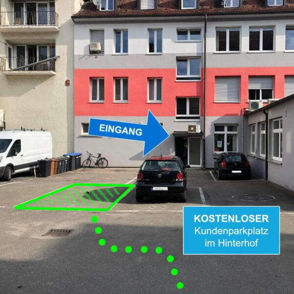 Kundenparkplatz Skizze